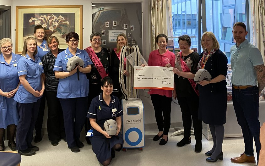 Chemotherapy patients at Pinderfields Hospital to benefit from additional Paxman Scalp Cooling Machine thanks to £10k raised for Sherine