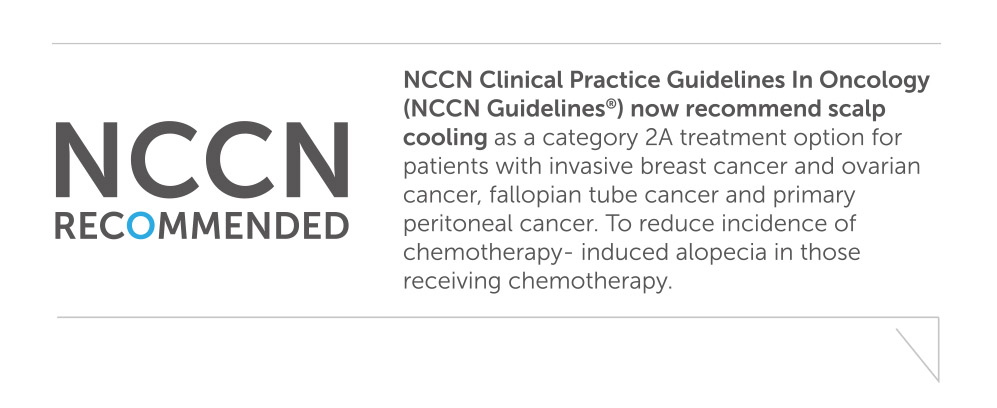 The NCCN Guidelines now recommend scalp cooling for ovarian cancer